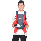 CHINTAKA Gendongan Ransel Dwi Fungsi Bordir [CBG 130100N] - Red Navy - Carrier and Sling